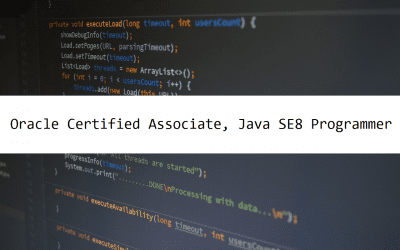 Oracle Certified Associate, Java SE8 Programmer