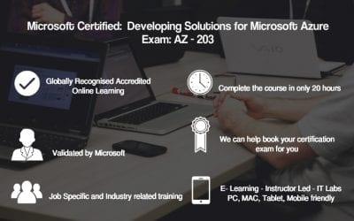 MS Azure Dev Associate AZ-203: Developing Solutions for MS Azure