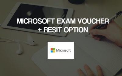 Microsoft Exam Voucher (MCP) + Resit Option